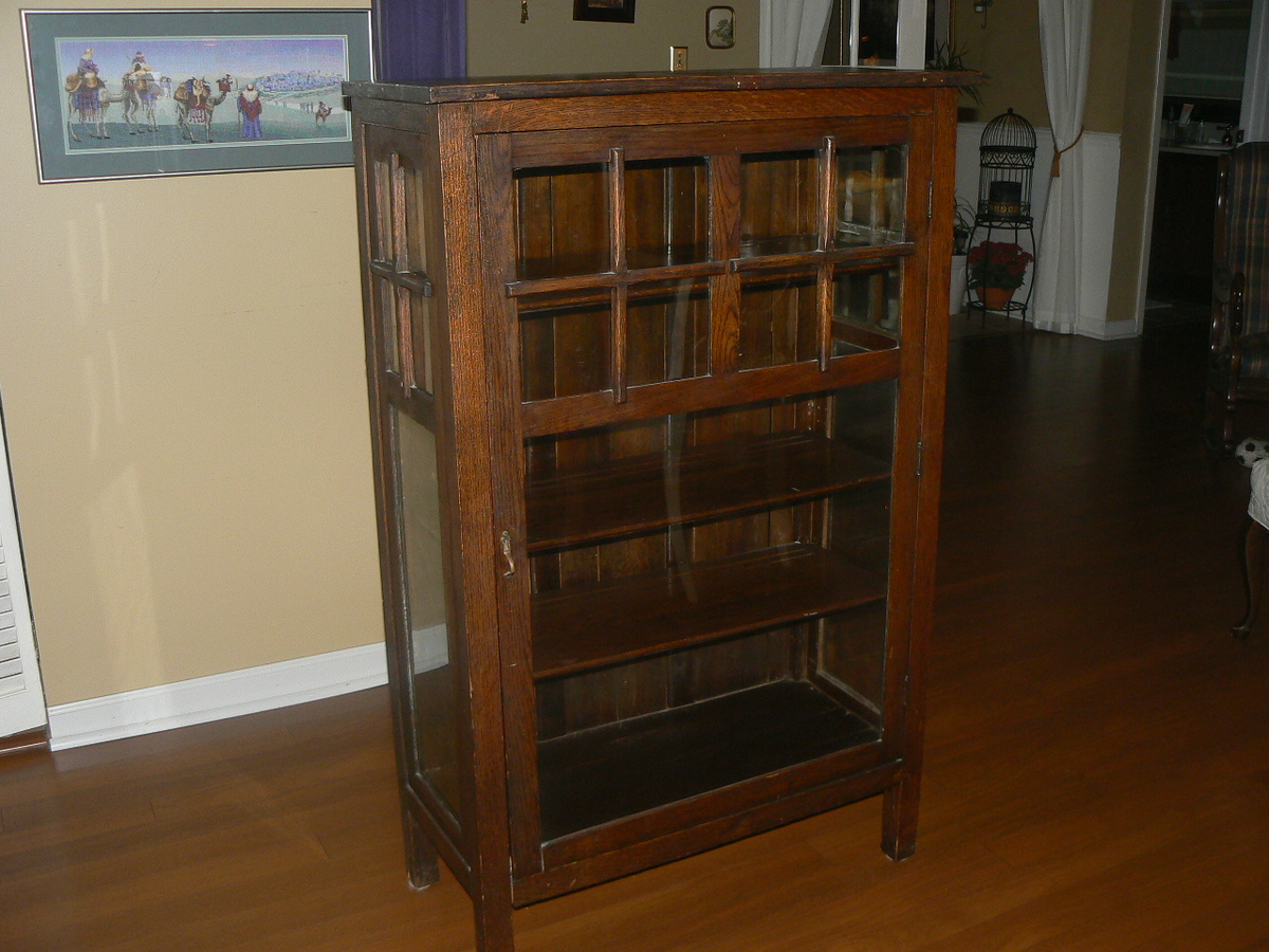 antique mission single door cabinetbookcase are these