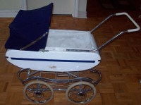 Vintage Gendron METAL Baby Buggy Doll Stroller Carriage ...