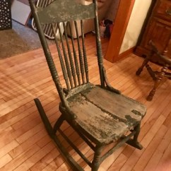 Antique Wooden Rocking Chairs Cedar Adirondack Maine And Vintage Collectors Weekly Armless Nursing Sewing Rocker