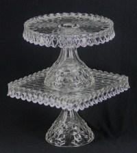 Fostoria Square Cake Plate & Fostoria Glass Crystal Square