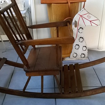 antique wooden rocking chairs sams folding and vintage collectors weekly part ii my 76 cent child s horse chair