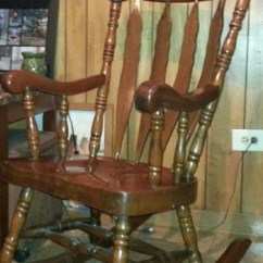 Antique Wooden Rocking Chairs Baby Chair And Vintage Collectors Weekly Large Solid Wood Carved