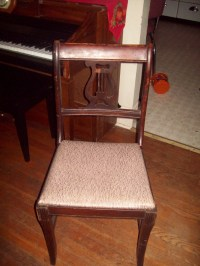 Vintage Early 1940's Lyre Back Dining Room Chairs ...