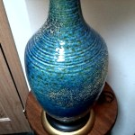 Mid Century Azure Blue Ceramic Table Lamp Bottle Shape Circa 1960 S 70 S Collectors Weekly