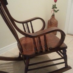 1920s Rocking Chair Tan Leather Dining Chairs Australia My Antique 1920 S Rocker Collectors Weekly 4