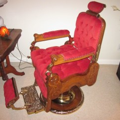 Antique Wood Barber Chair Stand Test Bbc Koken Congress Hydraulic Circa 1910 Collectors Weekly