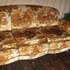 70s Sofa Modern Brown Leather Living Room It Came From The Story Of Your Grandma S Weird Couch Game Birds Roost Among Wildflowers On This Fake Velour Next To