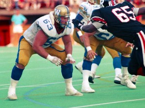 Chris Walby Winnipeg Blue Bombers 1989. Photo John Bradley
