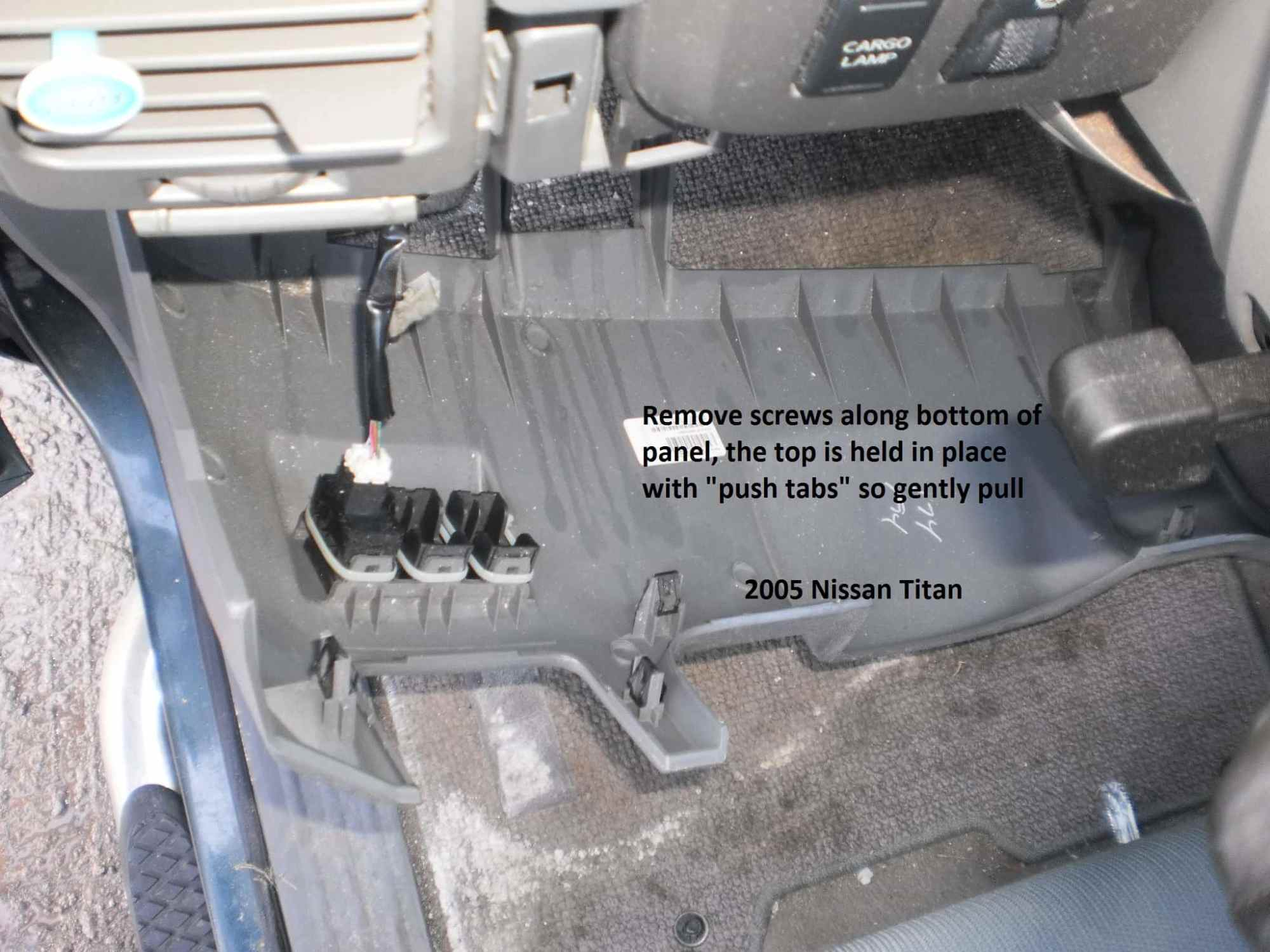 hight resolution of 2004 2014 nissan titan brake controller installation r and p rh randpcarriages com nissan titan trailer wiring harness diagram nissan titan trailer wiring