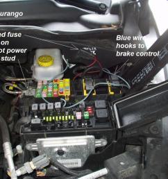 2005 hemi dodge durango trailer brake controller install r and p trailer brake [ 1024 x 768 Pixel ]
