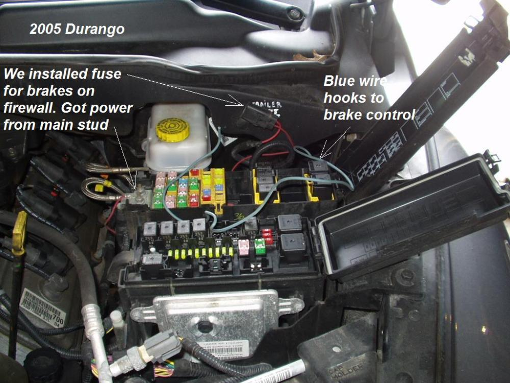 medium resolution of 2005 hemi dodge durango trailer brake controller install r and p trailer brake