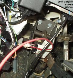we used red jacketed 2 conductor wire for the brake wire and power feed one wire feeds power to the controller one wire is the brake power from the  [ 1024 x 768 Pixel ]