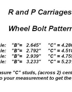 We get trailers or need to sell  wheel and cant figure out what size the bolt pattern is on lug just measure look at chart below also how trailer hubs   carriages rh randpcarriages