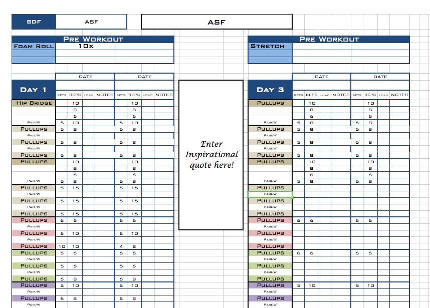 personal trainer program design templates