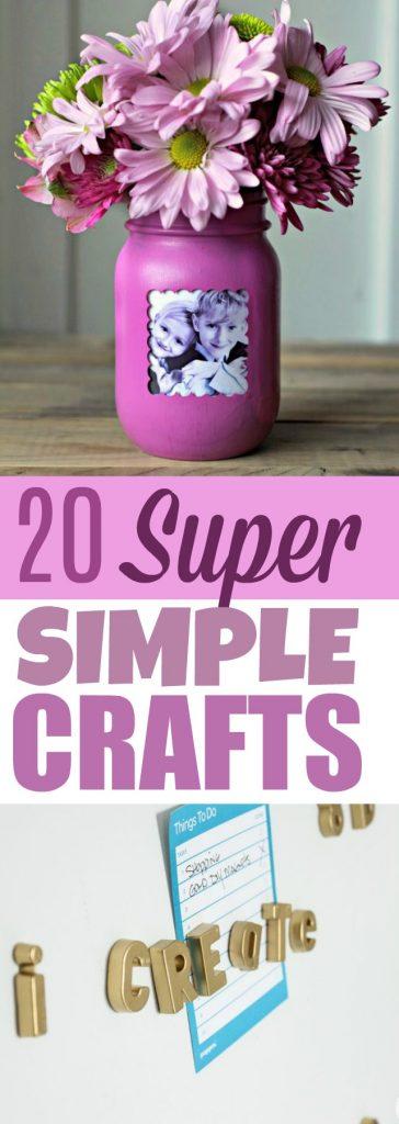 20 super simple crafts