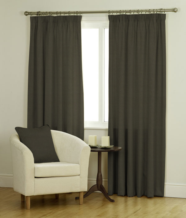 Ambassador Faux Suede Curtains Blind in Charcoal  Quality