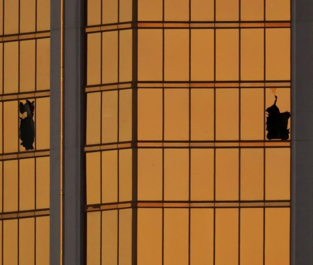 Morning Light Reflects Off The Mandalay Bay Hotel And The Broken Windows Where Shooter Stephen Paddock