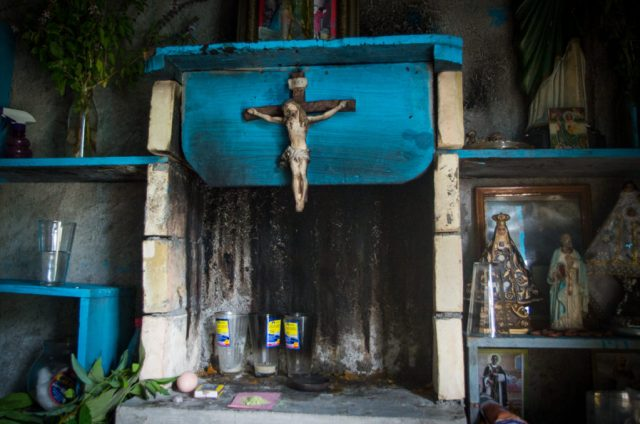 Curanderos in Huautla de Jimenez rely on Christian symbols blended with indigenous healing practices to treat illness. Photo by Ben Herrera