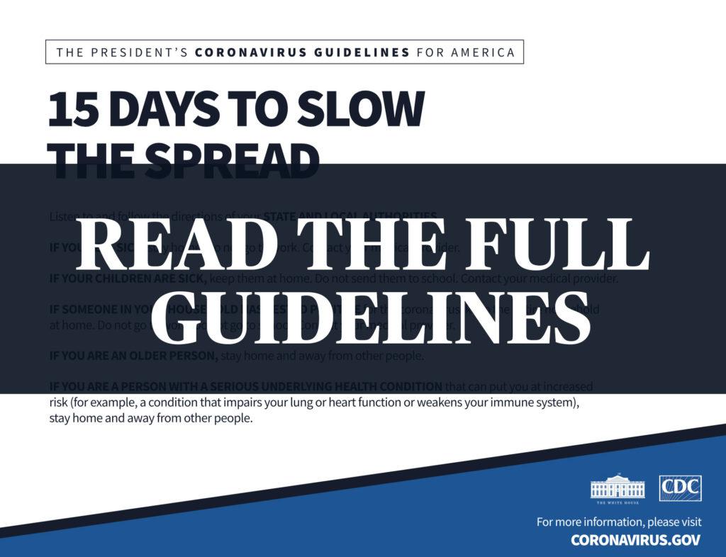 READ: White House guidelines on novel coronavirus | PBS NewsHour