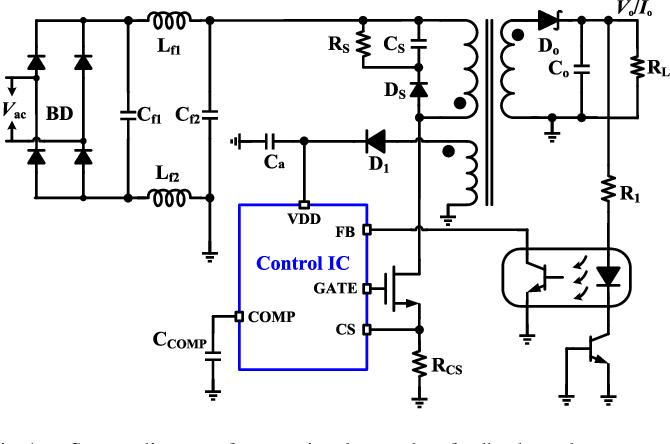Figure 1 from A High-Precision CV/CC AC–DC Converter Based
