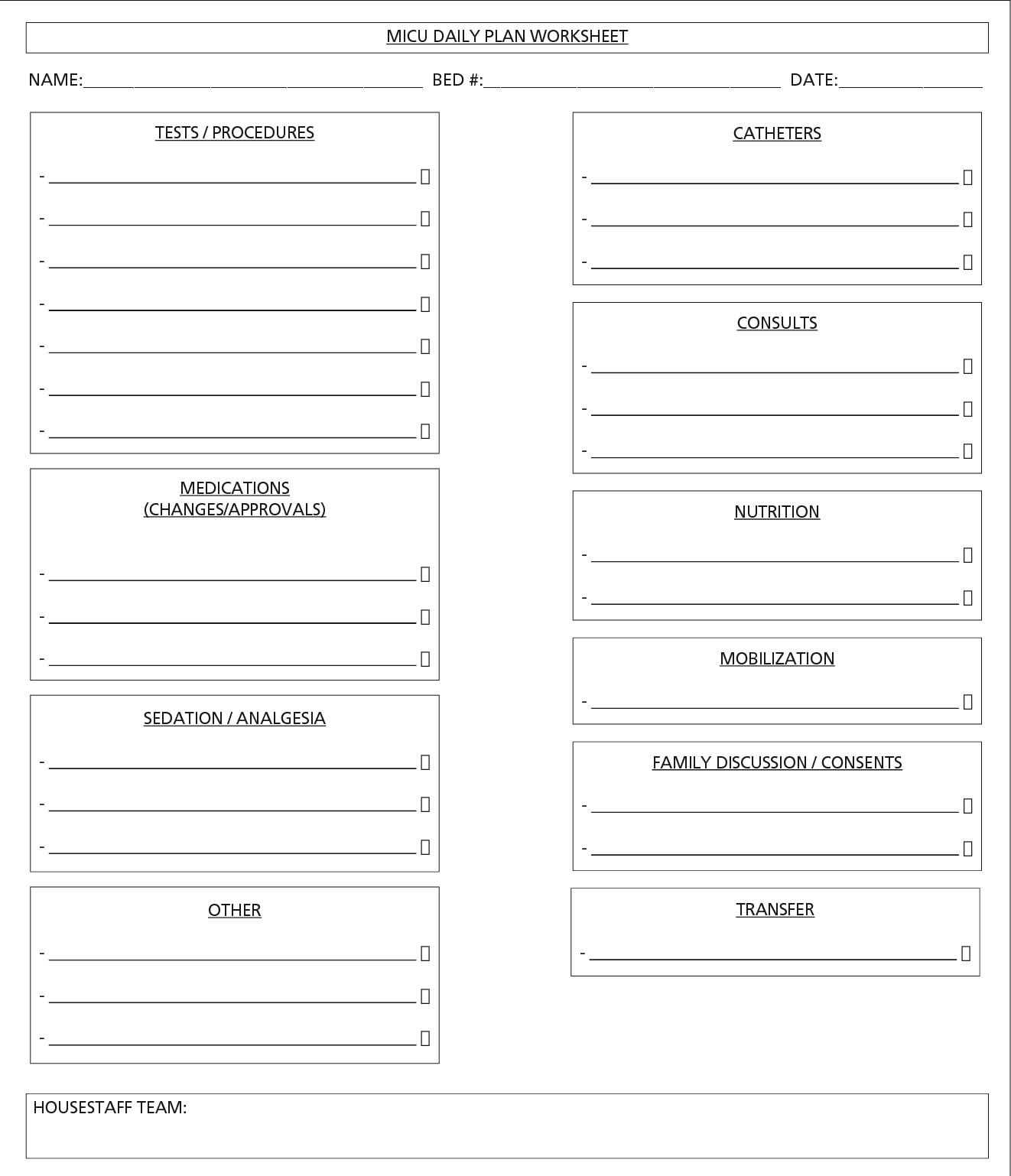 Worksheet Hospital Patients