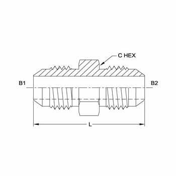 Hydraulic Fitting 2403-24-12 24MJ-12MJ Straight