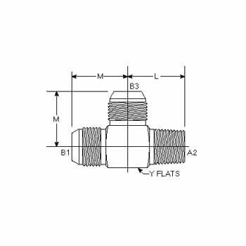 Hydraulic Fittings MJ-MP-MJ Tee