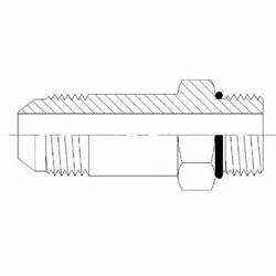 Hydraulic Fittings Male JIC MORB Straight Long 6400-L-O Series