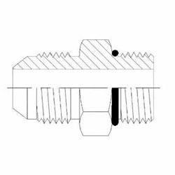 Hydraulic Fittings Male JIC MORB Straight 6400-O Series