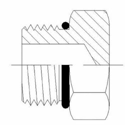 Hydraulic Fittings MORB External Hex Plug 6408-O Series