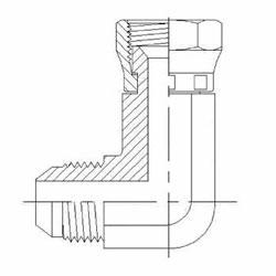 Hydraulic Fittings MJ-FJS 90 Elbow Long 6500-L Series