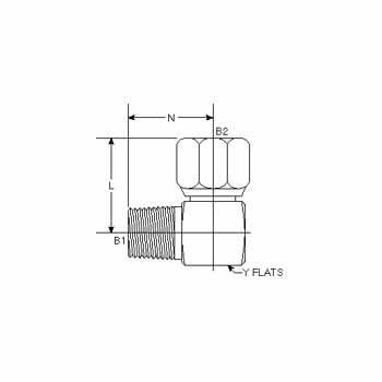 Hydraulic Fitting 6501-24-24-FG 24MP-24FJS 90 Degree Elbow