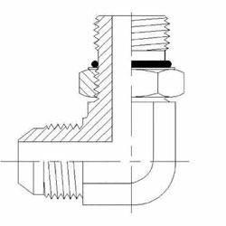 Hydraulic Fittings MJ-MAORB 90 Elbow 6801-NWO Series