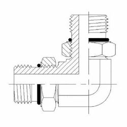 Hydraulic Fittings Male O-ring Boss 90 Elbow 6807-NWO Series