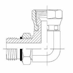 Hydraulic Fitting 6809-20-20-NWO-FG 20MAORB-20FJS 90