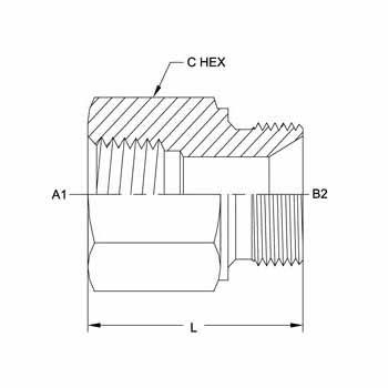 Hydraulic Fittings FP-MM Metric 7045 Series