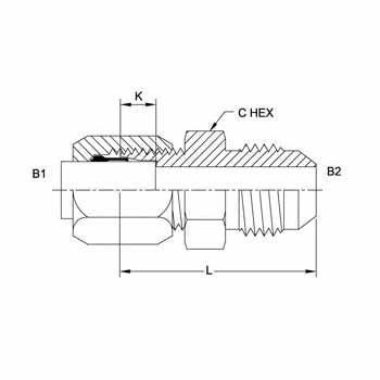 Hydraulic Fittings Bite Type Male JIC C2402 Series