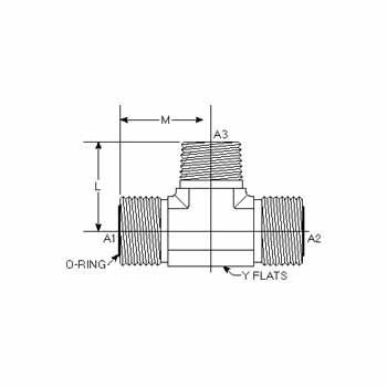 Hydraulic Fitting FS2601-12-12-12-FG 12MFS-12MFS-12MP