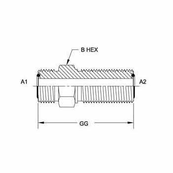 Hydraulic Fitting FS2700-06-06 06MFS-06MFS Bulkhead Union