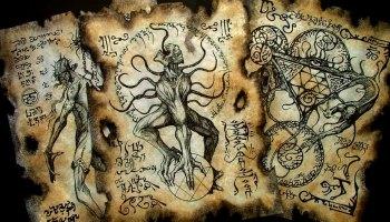 Necronomicon fragment LARP scrolls