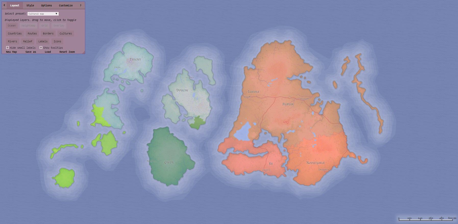 map maker generating a