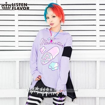 Cute Mint Blue Wallpapers Listen Flavor Heart Pill Hoodie