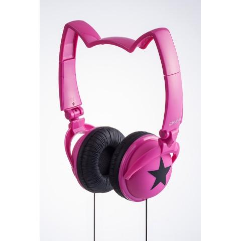 【mix style】ネコミミヘッドフォン スター(ピンク)