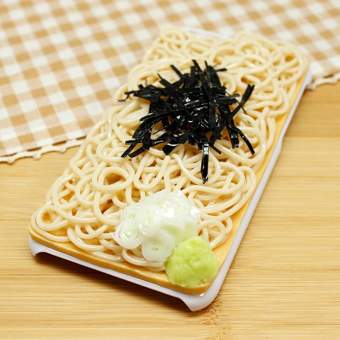【VV限定】食品サンプル屋さんのスマホケース(iPhone6/6s:蕎麦)【atelier cook】