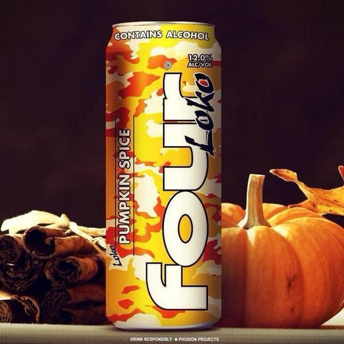 Image result for pumpkin spice four loko
