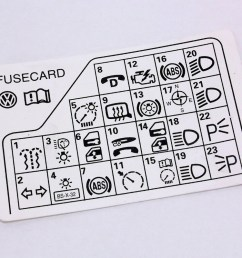 fuse panel diagram key card 98 05 vw passat b5 genuine 3b0 010 [ 1081 x 800 Pixel ]