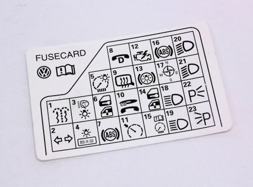 small resolution of fuse panel diagram key card 98 05 vw passat b5 genuine 3b0 010