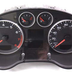 instrument gauge cluster 06 08 audi a3 parts only as is 8p0 [ 1200 x 771 Pixel ]