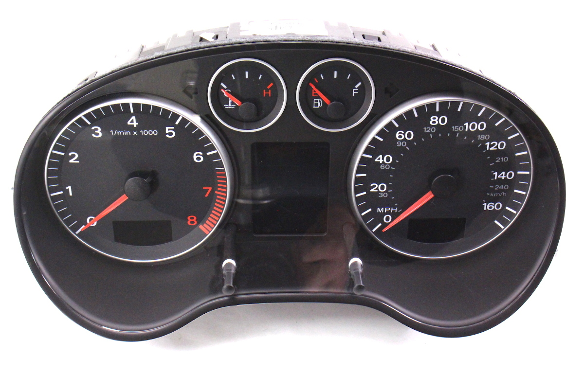 hight resolution of instrument gauge cluster 06 08 audi a3 parts only as is 8p0