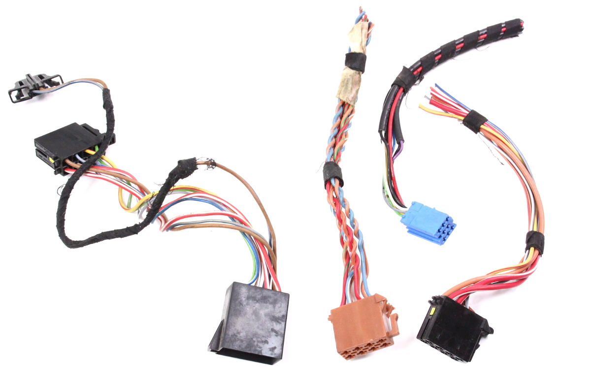 hight resolution of  volkswagen wiring diagram radio head unit wiring connectors plugs pigtails 99 02 vw jetta golf on home wiring